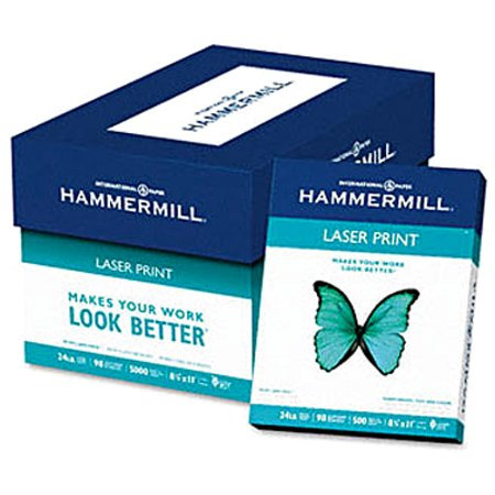 Product of Hammermill Laser Print Copy/Laser Paper with 98 Brightness, 24-lb., Letter, 500 ct. - White - All Paper & Printable Media [Bulk Savings] - Bulk Paper