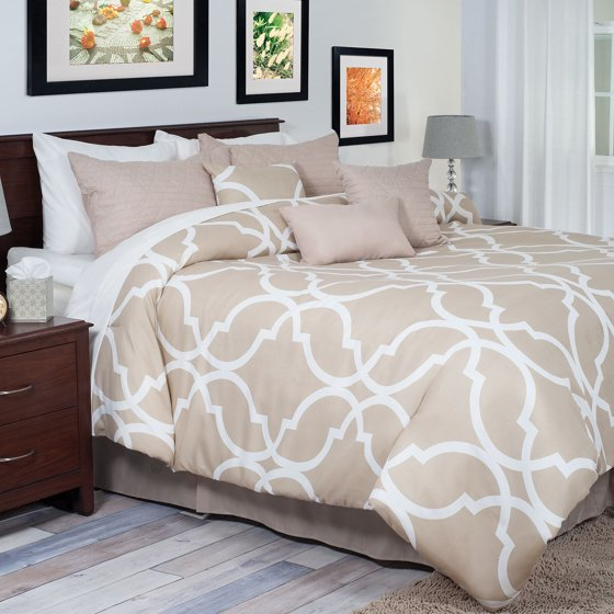 Somerset Home 7 Piece Oversized Trellis Comforter Set - Walmart.com