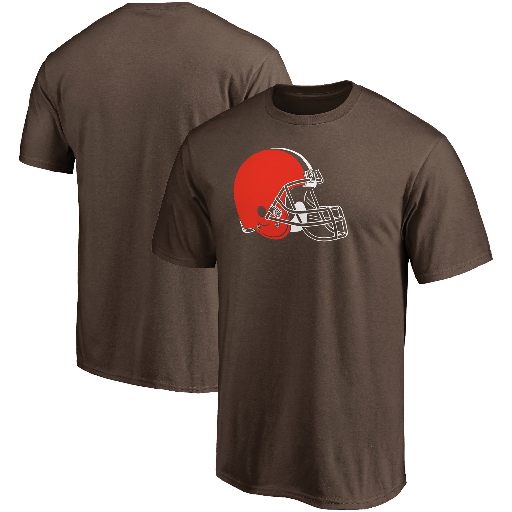 Cleveland Browns NFL Pro Line Primary Logo T-Shirt - Brown
