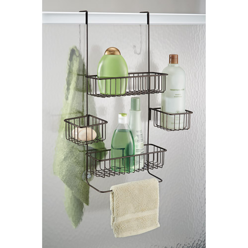 InterDesign Metalo Over Door Shower Caddy, Bronze