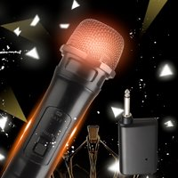 EEEkit Wireless Microphone Karaoke Bluetooth Microphone Wireless With VHF Receiver System, Handheld Dynamic Cordless Mic System For Karaoke Singing Speech Church