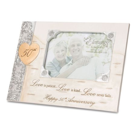 Pavilion Gift Company Elements 82430 50th Anniversary Frame