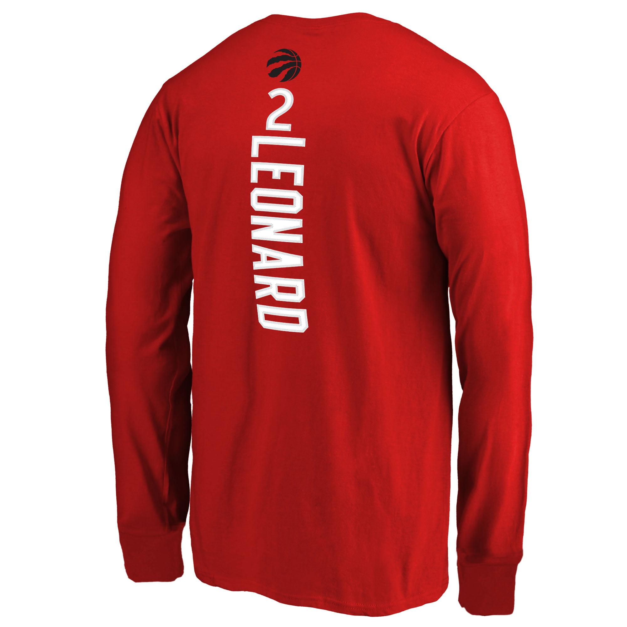 b7b32a58dcc Kawhi Leonard Toronto Raptors Fanatics Branded Youth Team Backer Name    Number Long Sleeve T-Shirt - Red - Walmart.com