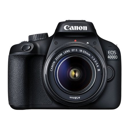 Canon EOS 4000D 18.0MP Digital SLR Camera with 18-55mm EF-S f/3.5-5.6 Lens