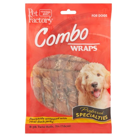 Pet Factory Combo Wraps Twist Rolls for Dogs, 8