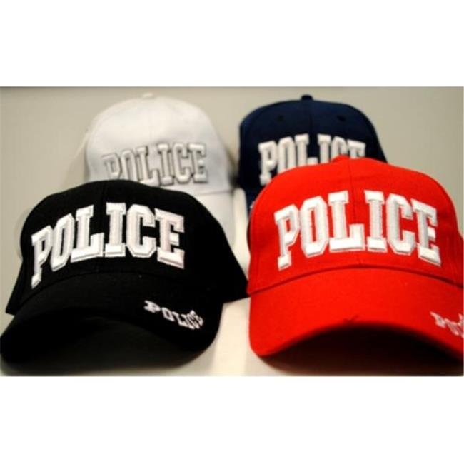 Bulk Buys Adjustable Baseball Hats Caps Police - Case of 24