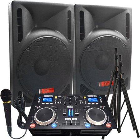 One Dj System (DJ System - The Ultimate DJ System - 2400 WATTS! Perfect for Weddings or School Dances - DJ Equipment)