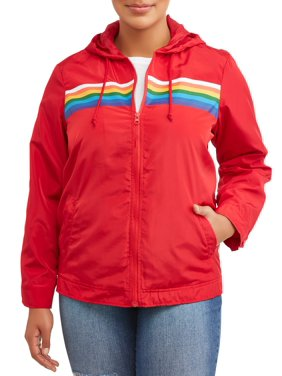 f6fcb9753c3 Product Image Women s Plus Size Rainbow Track Jacket