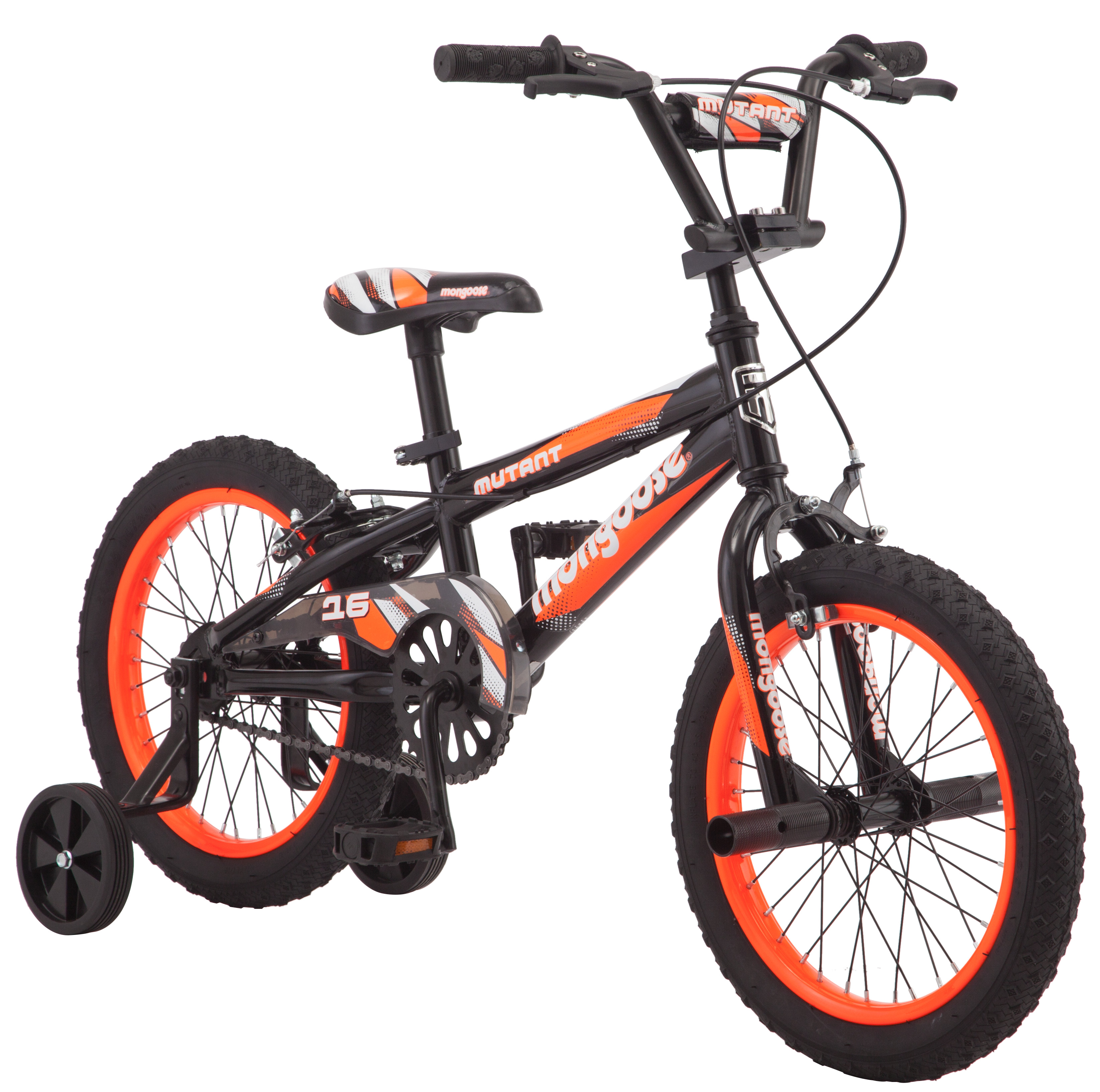 "16"" Mongoose Mutant Boys' Bicycle, Black & Orange"