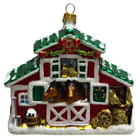 Equestrian Horse Stable Polish Glass Christmas Tree Ornament Decoration (Horse Tree Ornament)