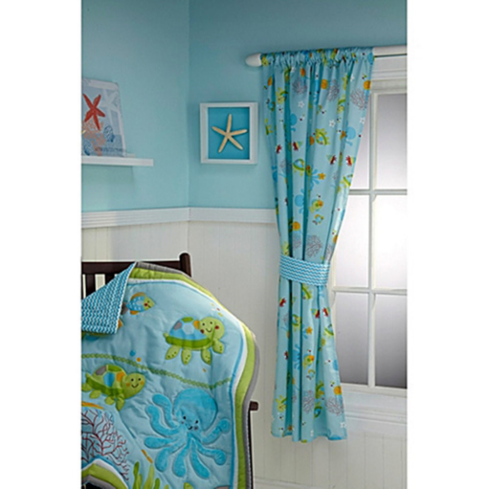 Little Bedding by NoJo Ocean Dreams Kids Bedroom Curtain Panel
