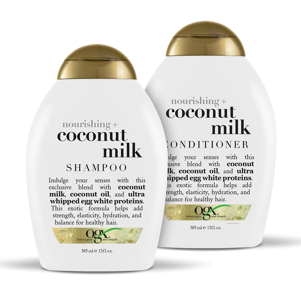 OGX Nourishing + Coconut Milk Shampoo & Conditioner Set 13oz, 2 Ct