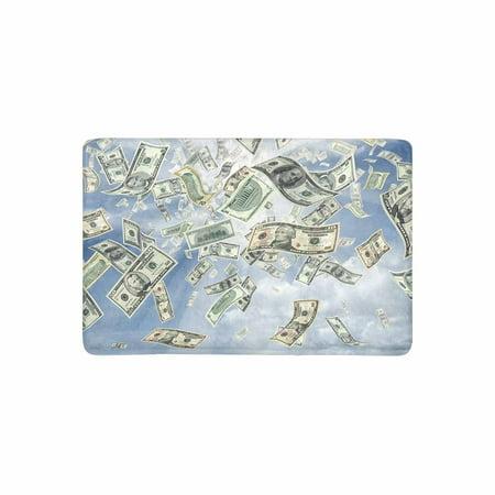 MKHERT Funny Wealth Idea The Rain of Dollars Bills Currency Money Doormat Rug Home Decor Floor Mat Bath Mat 23.6x15.7 inch](Welcome Home Baby Ideas)