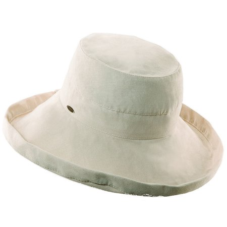 Scala Collezione Women's Cotton Big Brim Hat BEIGE O/S
