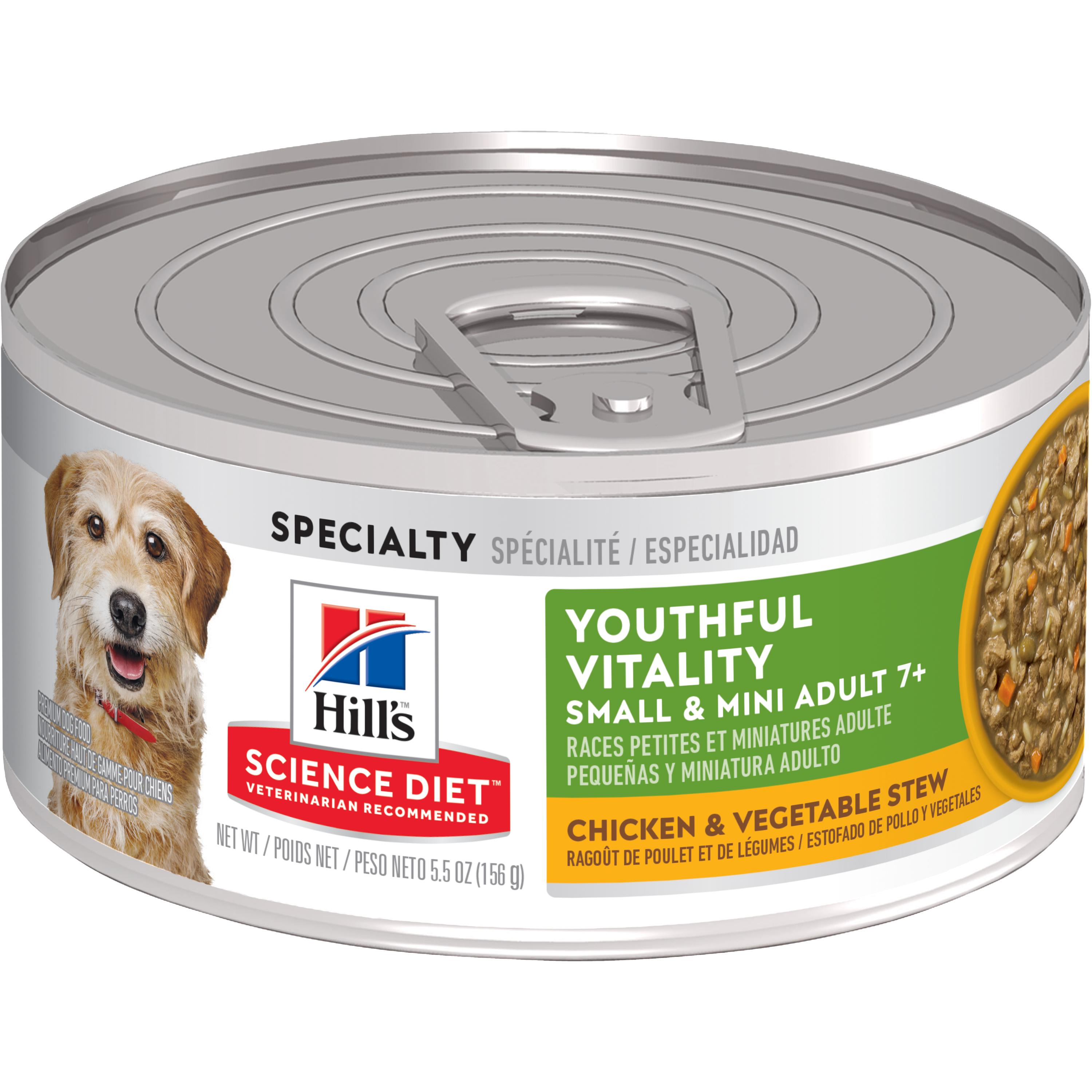 Hill's Science Diet(Spend $20, Get $5) Adult 7+ Youthful Vitality Small&Mini Chicken&Vegetable Stew Wet Dog Food,5.5 oz,24-pk(See description for rebate details)