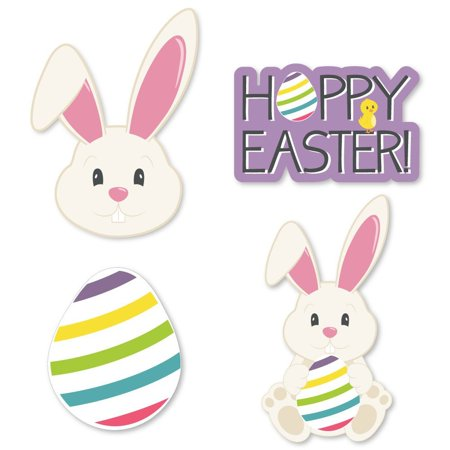 Hippity Hoppity - DIY Shaped Easter Bunny Party Cut-Outs - 24 Count