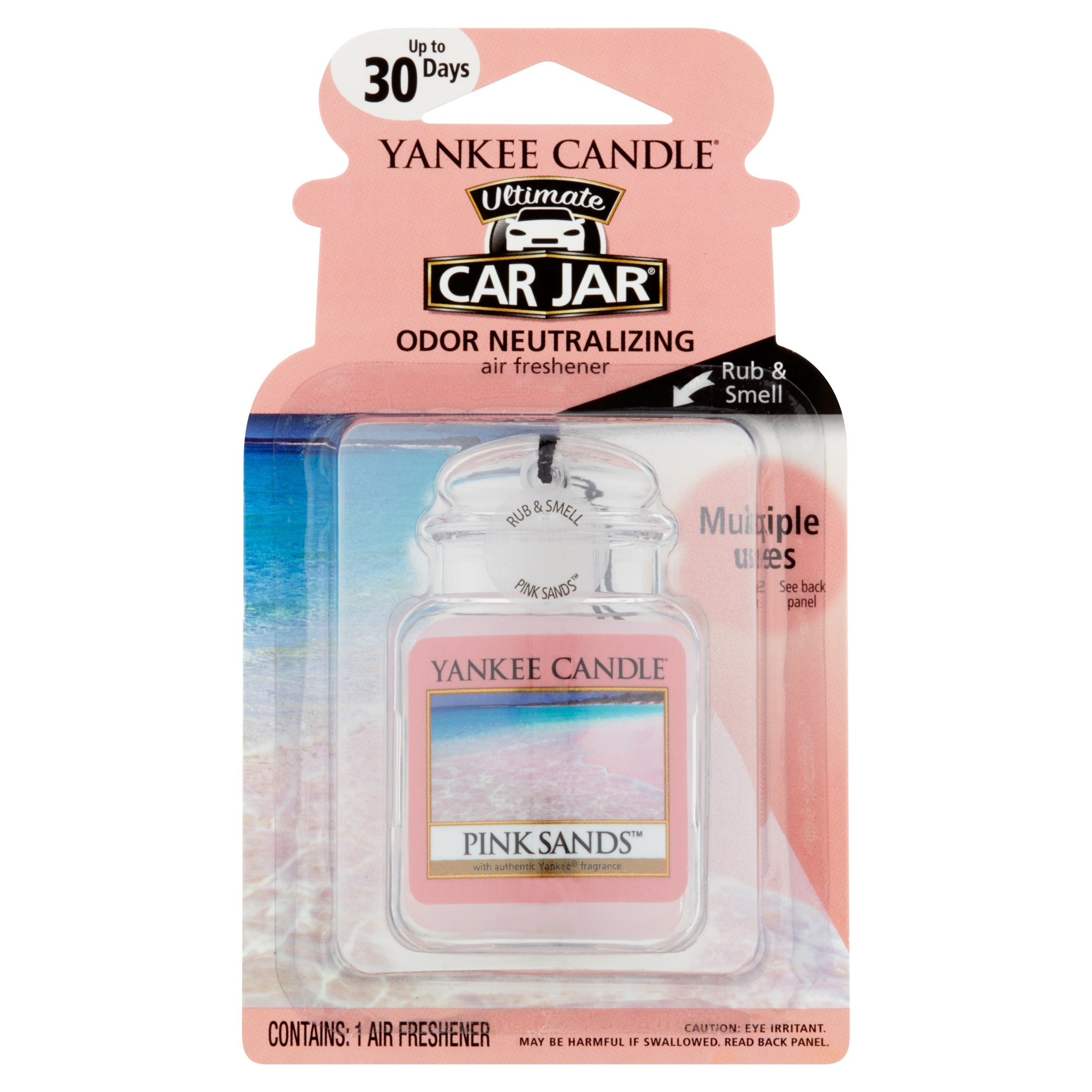 Yankee Candle Car Air Freshener, Pink Sands, 1 Count