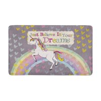 MKHERT Funny Unicorn with Inspiring Quotes Believe in Your Dreams Doormat Rug Home Decor Floor Mat Bath Mat 30x18 inch