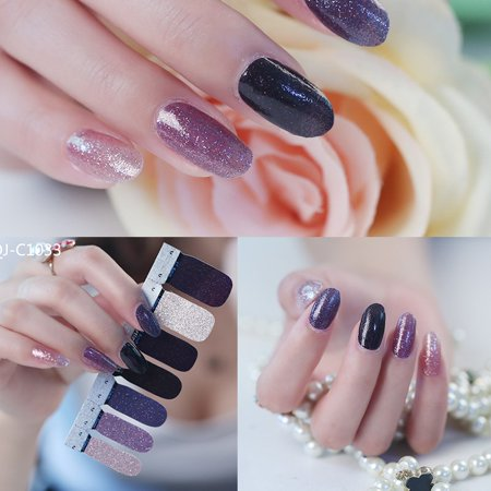 DIY 3D Polish Strips 14 Stickers False Nails Kit Decal Gradient Series - Pinterest Diy Halloween Nails