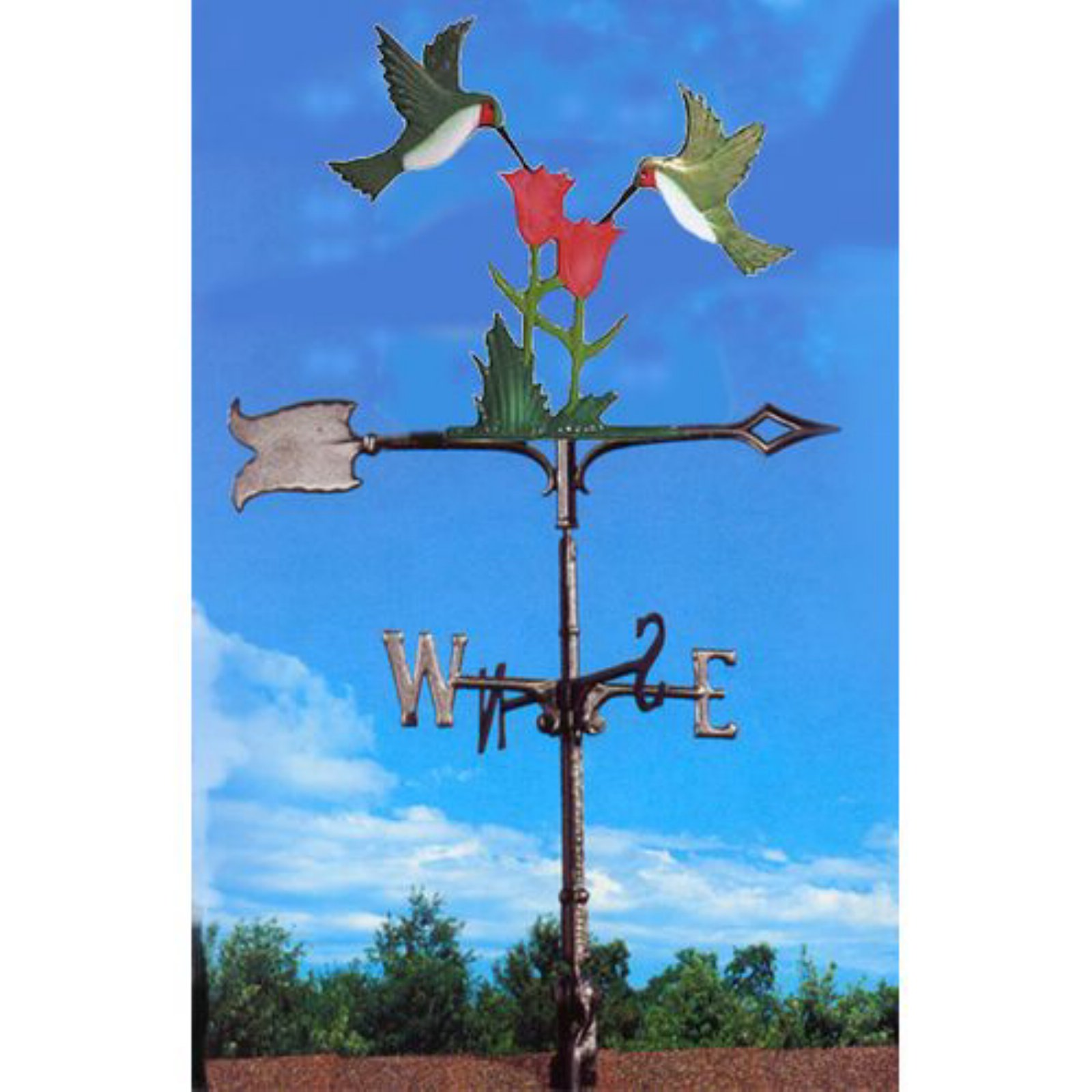 Painted Hummingbirds Weathervane by Whitehall
