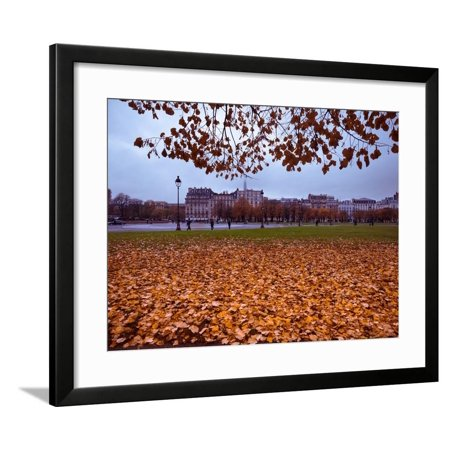Eiffel Tower and Autumn Park Scene, Paris, France, Europe Framed Print Wall Art By Jim Nix