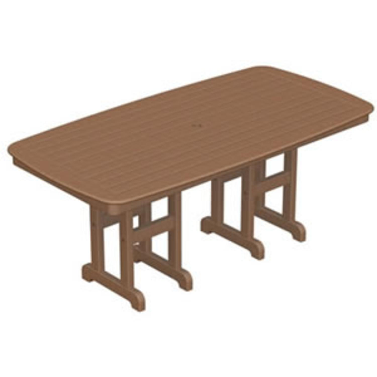 "71"" Recycled Earth-Friendly Cape Cod Outdoor Patio Dining Table - Raw Sienna"