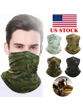 Balaclava Tactical Neck Gaiter Warmer Headband Scarf Bandana Face Masks Outdoor