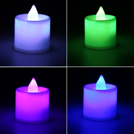 Superior Romance LED Flash Flameless Candle Light Lamp for Birthday Dinner Spa Party Pub Room Decoration - image 7 of 7