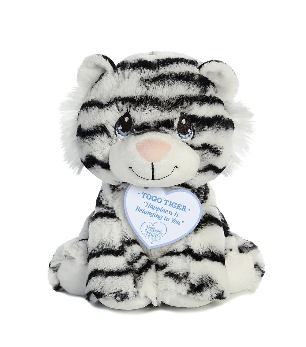 Togo White Tiger 8.5 inch Stuffed Animal by Precious Moments (15770) by Aurora World