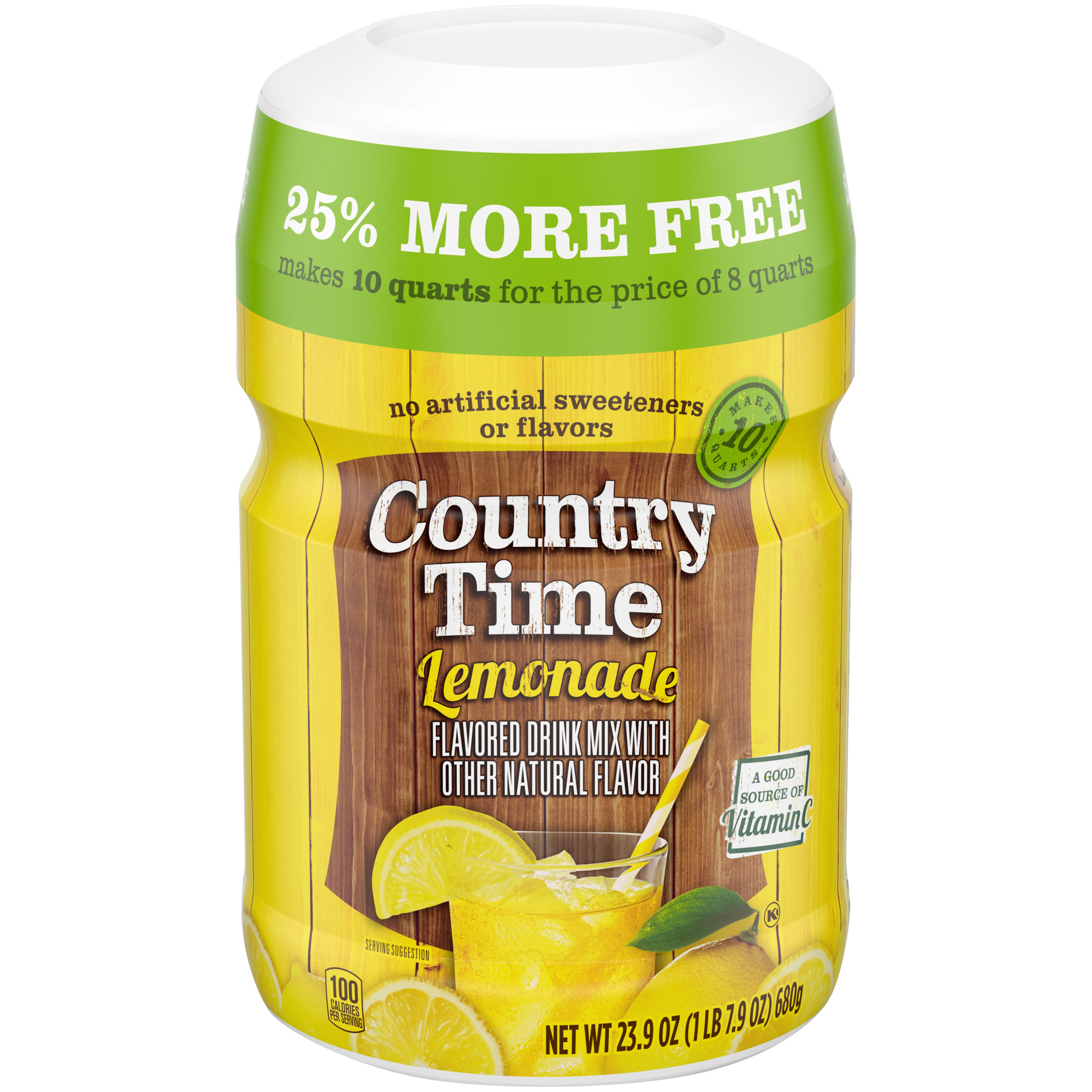 Country Time Lemonade Mix Caffeine Free 23 9 Oz Jar Walmart Com Walmart Com