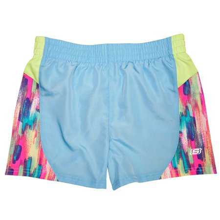 Skechers Girls' Elastic Waistband Lined Active Shorts