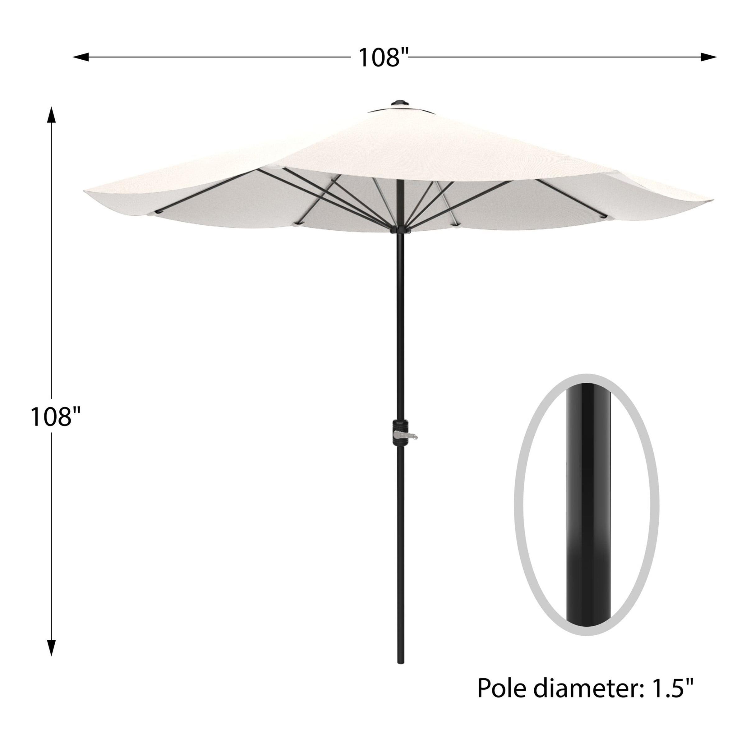 pure garden 9' market easy crank patio umbrella, multiple colors