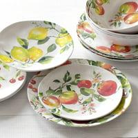 Better Homes & Gardens Outdoor Melamine Pomme Dinnerware Set, 12 Piece, Service for 4