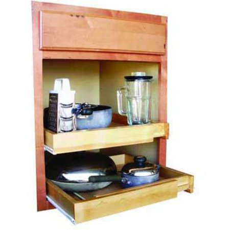 Rebrilliant bamboo expandable kitchen cabinet pull out for Pull out drawers for kitchen cabinets