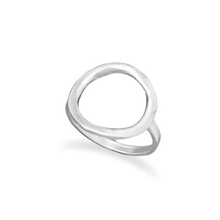 Engraved Sterling Silver Circles (Open Circle O Ring Textured Sterling Silver,  Size 4 to)