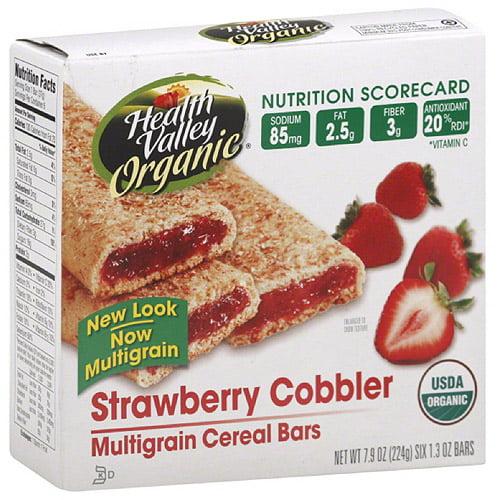 Health Valley Strawberry Cobbler Multigrain Cereal Bars, 7.9 oz (Pack of 6)
