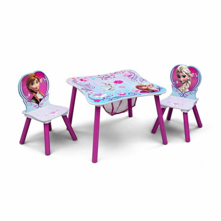 Terrific Frozen Toddler Table And Chair Set With Storage Interior Design Ideas Philsoteloinfo