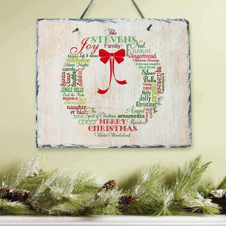 Personalized Christmas Wreath Slate](Personalized Merchandise)