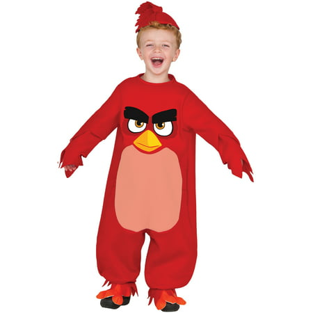 Angry Birds Movie - Red Bird Costume for Toddler - Angry Bird Toddler Costume