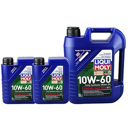 Liqui Moly 2024 2068 Synthoil Race Tech GT1 10W-60 Motor Oil - 7 Liter Value (Race Oil)
