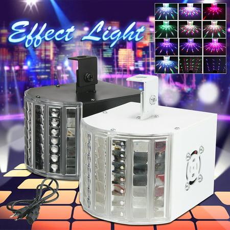 AC110V/220V18W RGB DJ Lights Sound Music Activated  LED Strobe Effect Stage Light Disco Dance Party Show DMX512 (Led Fans Dance)