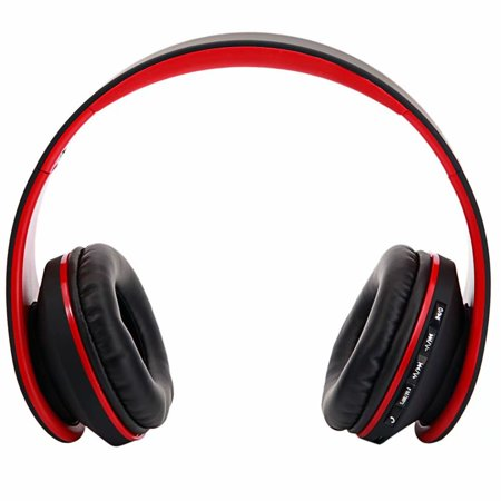 Clearance!HY-811 Foldable FM Stereo MP3 Player Wired Bluetooth Headset Black & Red