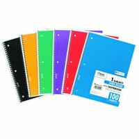 Mead Spiral Notebook, 1 Subject, Wide Ruled, Assorted Colors