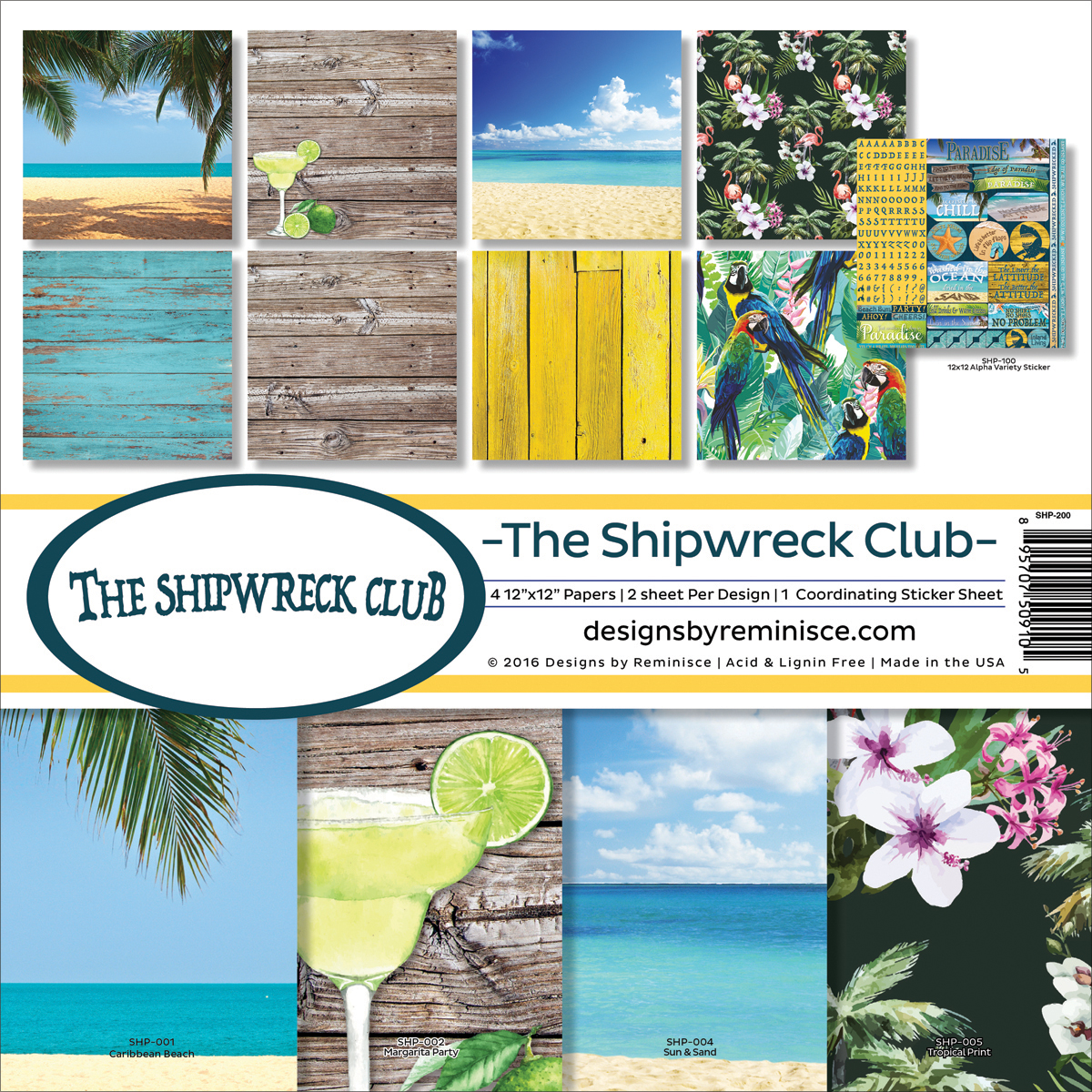 "Shipwreck Club Collection Kit, 12"" x 12"""