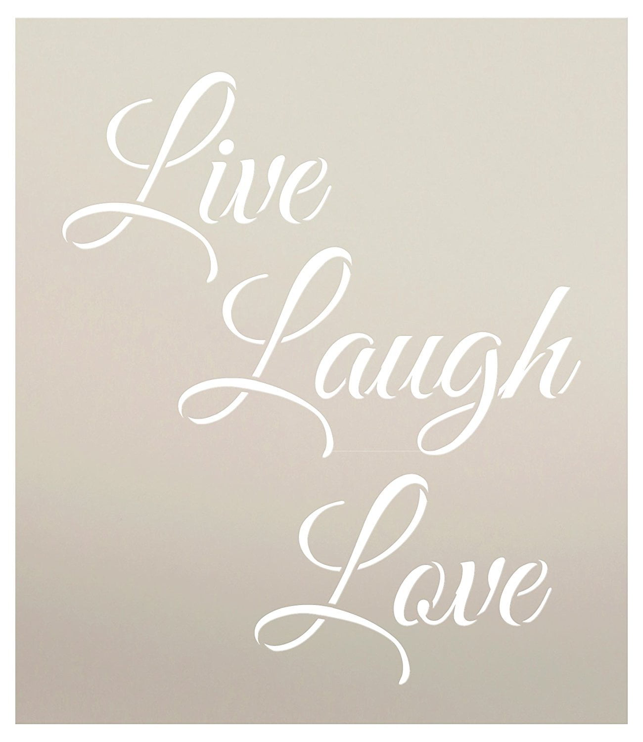 Live Laugh Love Stencil by StudioR12 | Trendy Inspirational Word ...