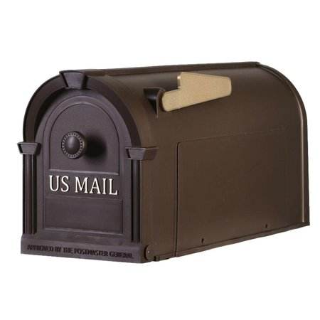 Postal Pro Post-Mount Hampton Mailbox in Bronze with Gold Lettering By Generic Ship from - Catalogs By Mail