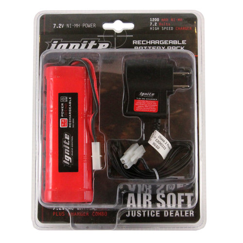 Ignite 7.2V RC Battery Pack Plus Charger Combo