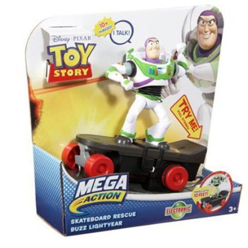 Toy Story Mega Action Skateboard Rescue Buzz Lightyear Action Figure
