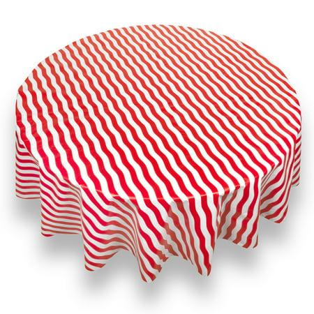 Bold Stripe Red Premum Quality Vinyl Flannel Back
