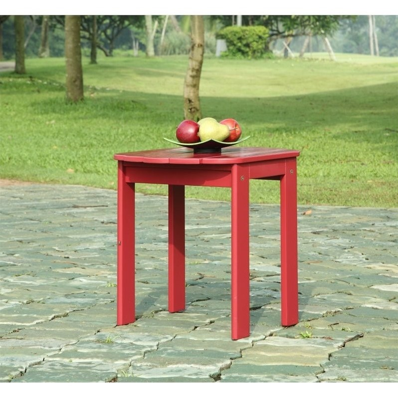Linon Adirondack Table in Red - image 1 of 2